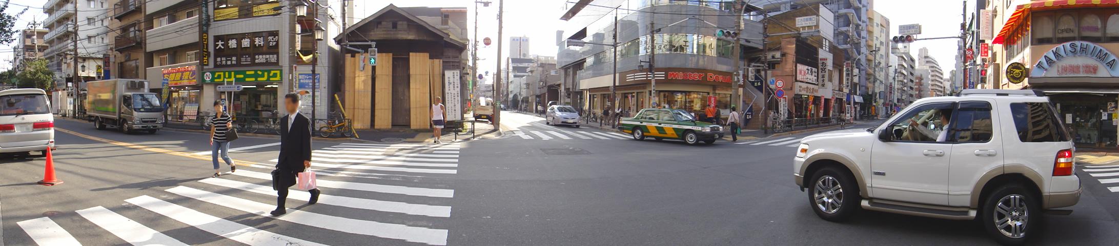 千川通り 向かって右側通り ズット行くと武蔵大学