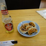 ビールと餃子